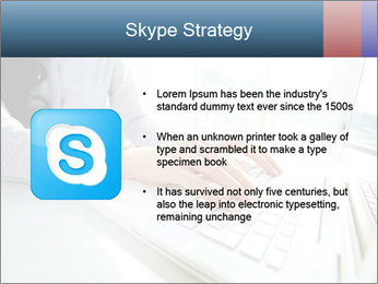 Business lady typing on laptop at office PowerPoint Template - Slide 8