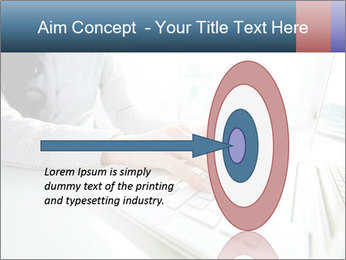 Business lady typing on laptop at office PowerPoint Template - Slide 83