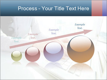 Business lady typing on laptop at office PowerPoint Template - Slide 87