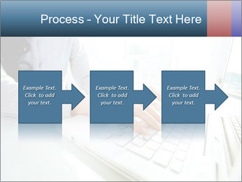 Business lady typing on laptop at office PowerPoint Template - Slide 88