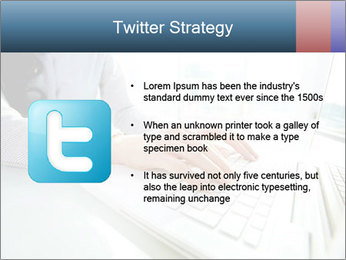 Business lady typing on laptop at office PowerPoint Template - Slide 9