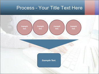 Business lady typing on laptop at office PowerPoint Template - Slide 93