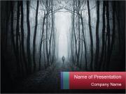 Strange dark forest PowerPoint Templates