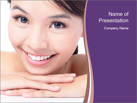 Attractive woman smile PowerPoint Template