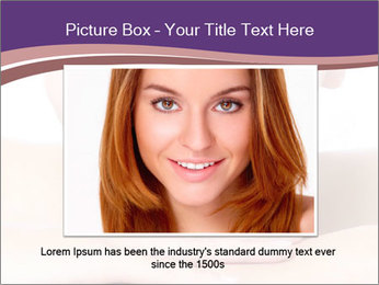 Attractive woman smile PowerPoint Templates - Slide 15