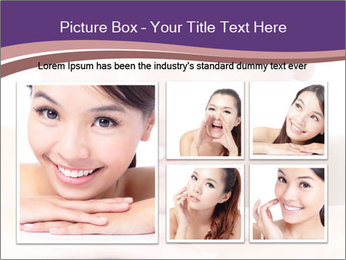 Attractive woman smile PowerPoint Template - Slide 19
