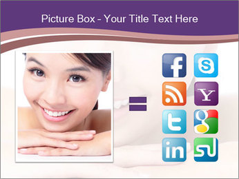 Attractive woman smile PowerPoint Template - Slide 21