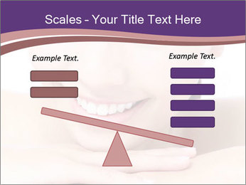 Attractive woman smile PowerPoint Template - Slide 89