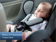 Baby sleeping in car seat PowerPoint Templates