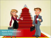 Businessman and business woman PowerPoint Templates
