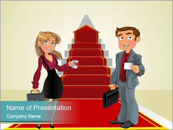 Businessman and business woman PowerPoint Templates - Slide 1
