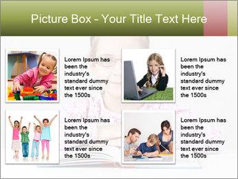 Cute schoolgirl PowerPoint Template - Slide 14