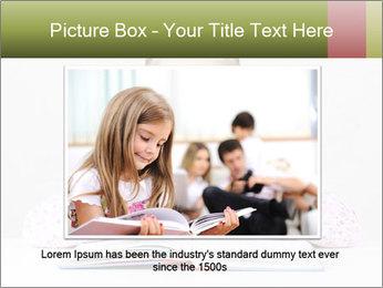 Cute schoolgirl PowerPoint Template - Slide 15