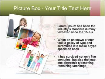 Cute schoolgirl PowerPoint Template - Slide 17