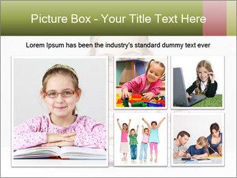 Cute schoolgirl PowerPoint Template - Slide 19