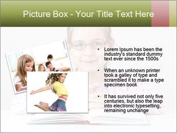 Cute schoolgirl PowerPoint Template - Slide 20
