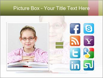 Cute schoolgirl PowerPoint Template - Slide 21