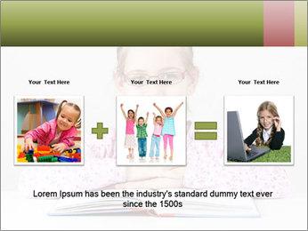 Cute schoolgirl PowerPoint Template - Slide 22