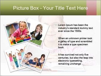 Cute schoolgirl PowerPoint Template - Slide 23