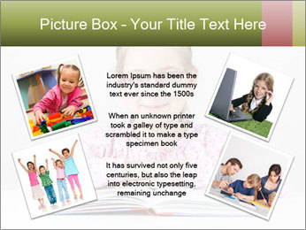 Cute schoolgirl PowerPoint Template - Slide 24
