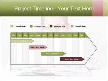 Cute schoolgirl PowerPoint Template - Slide 25