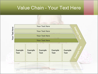 Cute schoolgirl PowerPoint Template - Slide 27