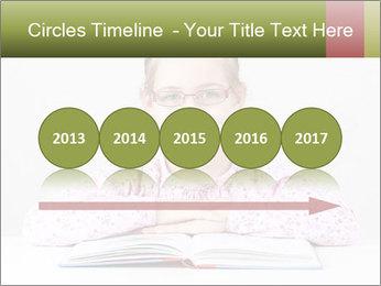 Cute schoolgirl PowerPoint Template - Slide 29