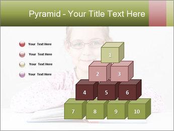 Cute schoolgirl PowerPoint Template - Slide 31