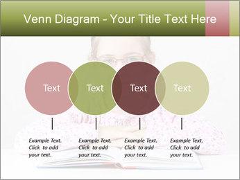 Cute schoolgirl PowerPoint Template - Slide 32