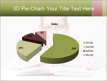 Cute schoolgirl PowerPoint Template - Slide 35