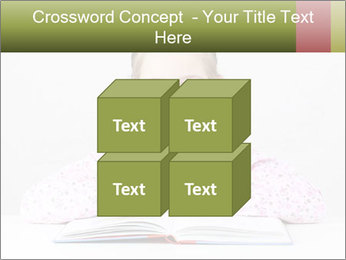 Cute schoolgirl PowerPoint Template - Slide 39