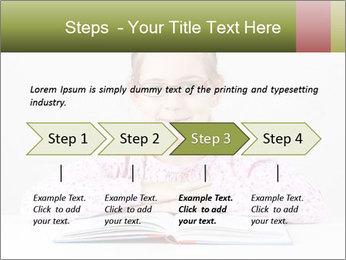Cute schoolgirl PowerPoint Template - Slide 4
