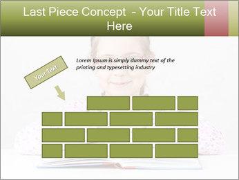 Cute schoolgirl PowerPoint Template - Slide 46
