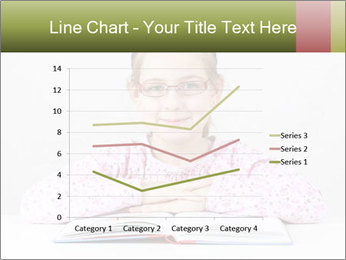 Cute schoolgirl PowerPoint Template - Slide 54