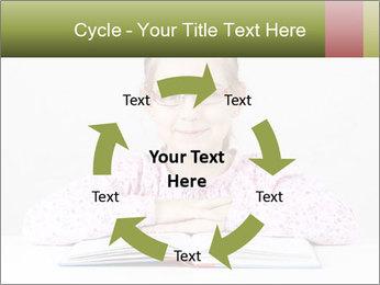 Cute schoolgirl PowerPoint Template - Slide 62