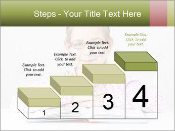Cute schoolgirl PowerPoint Template - Slide 64