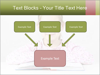 Cute schoolgirl PowerPoint Template - Slide 70