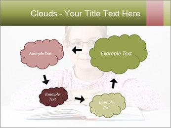 Cute schoolgirl PowerPoint Template - Slide 72