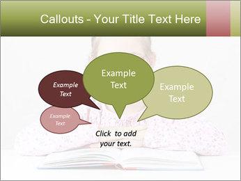 Cute schoolgirl PowerPoint Template - Slide 73
