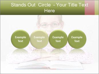 Cute schoolgirl PowerPoint Template - Slide 76
