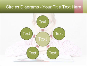 Cute schoolgirl PowerPoint Template - Slide 78