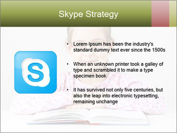 Cute schoolgirl PowerPoint Template - Slide 8