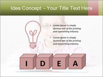 Cute schoolgirl PowerPoint Template - Slide 80