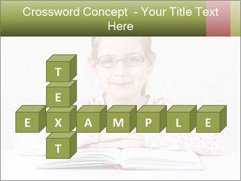 Cute schoolgirl PowerPoint Template - Slide 82