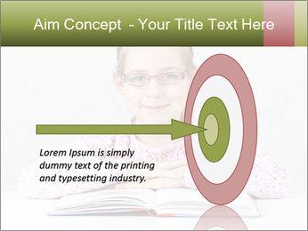 Cute schoolgirl PowerPoint Template - Slide 83