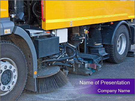 Street sweeper PowerPoint Templates