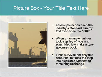 A ship entering the port PowerPoint Template - Slide 13