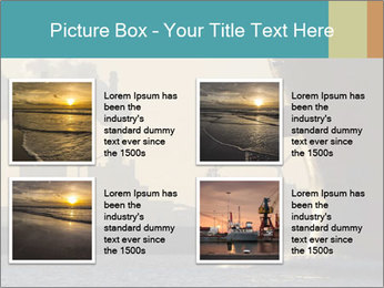 A ship entering the port PowerPoint Template - Slide 14