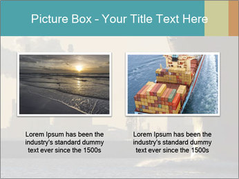A ship entering the port PowerPoint Template - Slide 18