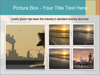 A ship entering the port PowerPoint Template - Slide 19